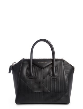Small Antigona Geo Embossed Calfskin Satchel by Givenchy