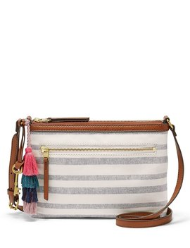 Fiona Striped Small Cross Body Bag by Fossil
