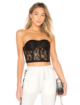 Alice Strapless Lace Bustier by By The Way.