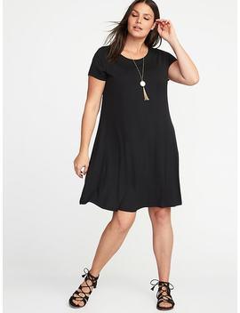 Plus Size Jersey Knit Swing Dress by Old Navy