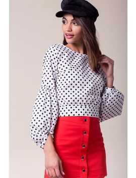 Spotted Poplin Blouse by A'gaci