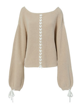 Pama Lace Up Sweater by Tabula Rasa