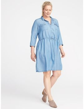 Plus Size Tencel® Utility Shirt Dress by Old Navy