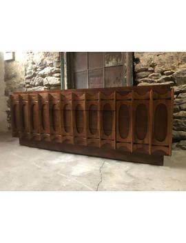 Mid Century Modern Dresser Brutalist Dresser Mid Century Low Dresser Mid Century Credenza by Etsy
