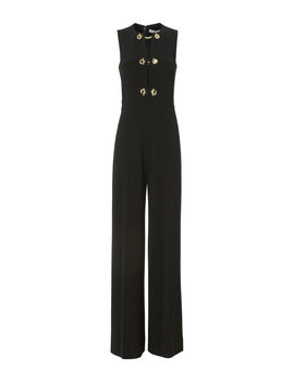 Grommet Detail Wide Leg Jumpsuit by Derek Lam 10 Crosby