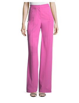 Russo High Waist Side Snap Wide Leg Trousers by Veronica Beard