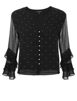 Meena Pearl Embellished Top by Exclusive For Intermix