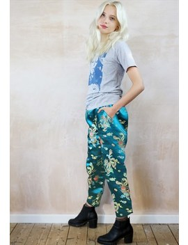 Chinese Dragon Crop Trousers by Yapyap