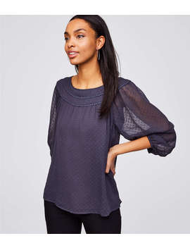 Lacy Swiss Dot Blouse by Loft