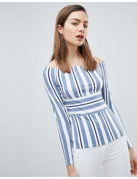 Ivyrevel Bardot Top In Stripe by Ivyrevel