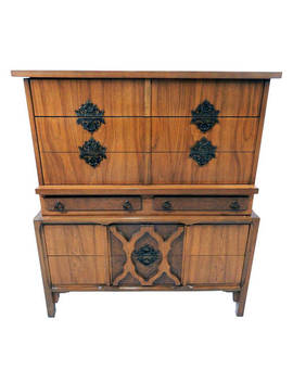 Rare Mid Century Modern Chest Of Drawers/ Dresser W/ Moroccan Influence by Etsy