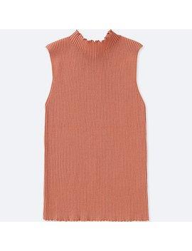 Women Supima Cotton Uv Cut Ribbed Sleeveless Sweater by Uniqlo