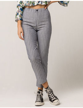 Ivy & Main Blue Stripe Womens Crop Pants by Ivy + Main