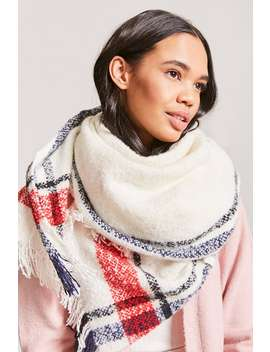 Plaid Fringe Scarf by Forever 21