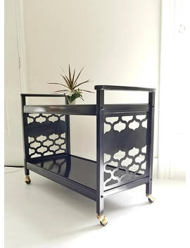 Marrakesh Bar Cart, Drink Trolley, 1970s, Gloss Black, Palm Regency,  Dorothy Draper, Painted Furniture Nj Nyc, Shiny Pretty by Etsy