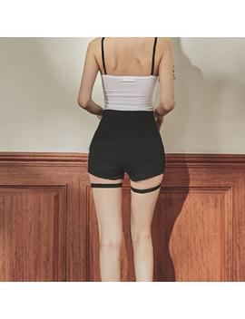 Solid Black Punk Women Shorts High Waist Sexy Shorts Female Streetwear Casual Slim Shorts by Super Sale Yangelo