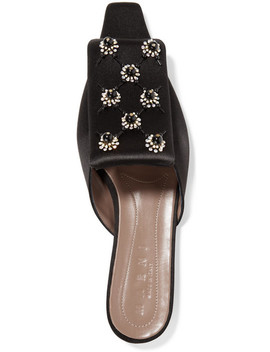 Embellished Satin Slippers by Marni
