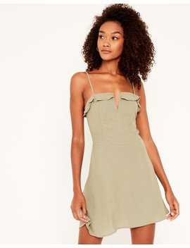 V Front Mini Dress by Glassons