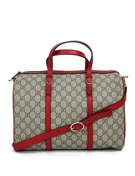Gucci Beige Ebony Gg Supreme Canvas Nice Medium Boston Bag by Gucci