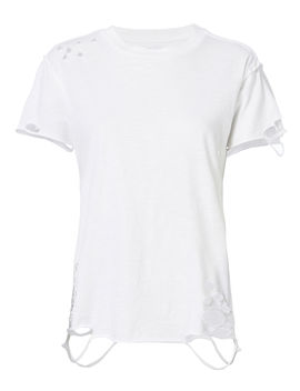Destroyed White T Shirt by Nsf