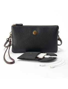Stone & Co. Trifecta Pebbled Leather Phone Charging Convertible Crossbody Bag by Kohl's