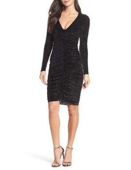 Leopard Velvet Mesh Body Con Dress by Bardot