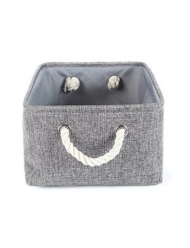 The Warm Home Collapsible Rectangular Baskets For Storage Laundry Basket With Rope Handles by The Warm Home