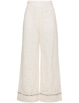 Jerome Wide Leg Lace Trousers by Ganni