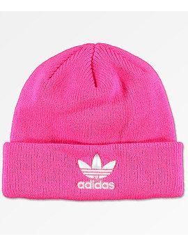 Adidas Original Solar Pink &Amp; White Womens Beanie by Adidas