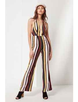 Uo Shiloh Plunging Flare Jumpsuit by Urban Outfitters