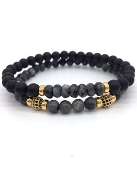 Naiqube 2018 New Men Or Women Pave Cz Ball Nature Stone Beads Fashion Charm Bracelets For Jewelry Gift Pulseira Masculina by Naiqube Official Store