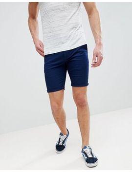 Asos Design Super Skinny Chino Shorts In Dark Navy by Asos