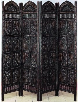 Deco 79 Wood 4 Panel Screen Ultimate In Screen Category by Deco 79