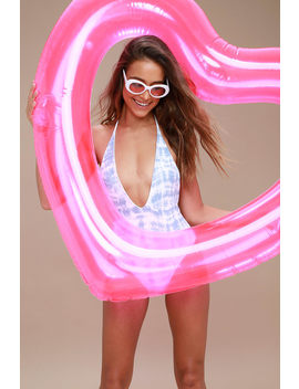 Beach, Please! Neon Pink Jumbo Heart Inner Tube by Ban.Do