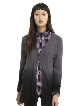 Grey & Black Ombre Girls Cardigan by Hot Topic