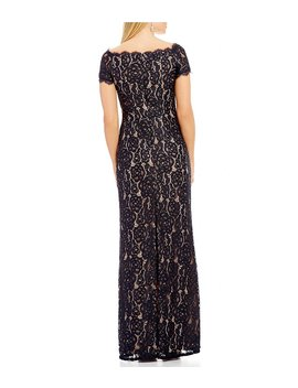 Adrianna Papell Off The Shoulder Lace Gown by Adrianna Papell