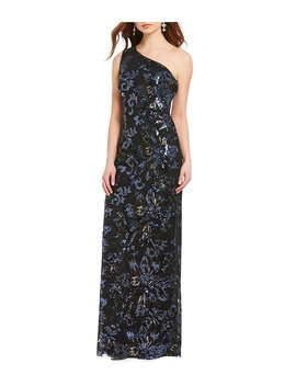 Decode 1.8 One Shoulder Sequin Gown by Decode 1.8