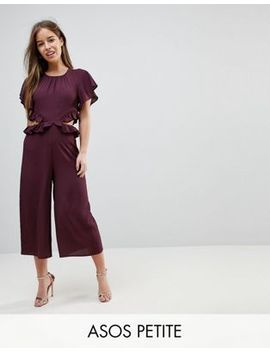 Asos Petite Jumpsuit With Ruffle And Cut Out by Asos Petite