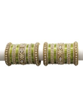 Designer Bollywood Bridal Bangle/Kada Set Wedding Wear Indian Costum Jewelry by Jewel Collections