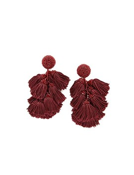 Cha Cha Fringe Clip On Earrings by Sachin & Babi