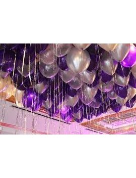 """12"""" 3.2 Helium Quality Pearl Latex Balloons   Light Purple, Dark Purple And Silver. Perfect For Any Special Occasion, Exclusive Night Decoration Or Birthday Parties  100 Count. by Mother & Fabulous"""