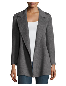 Clairene Open Front Wool Blend Coat by Neiman Marcus