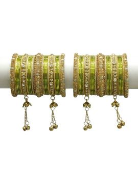 Bollywood Designer Bridal Bangle Kada Set Wedding Wear Indian Costume Jewelry by Jewel Collections