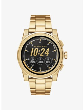 Grayson Gold Tone Smartwatch by Michael Kors Access