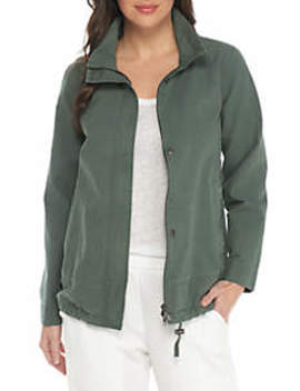Stand Collar A Line Jacket by Eileen Fisher