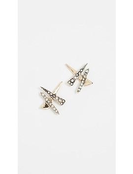 Criss Cross Shard Earrings by Alexis Bittar