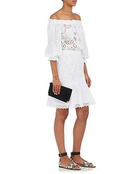 Grace Cotton Eyelet Off The Shoulder Dress by Saloni