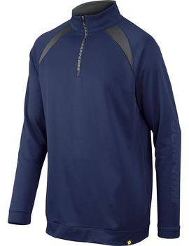 De Marini Men's Heater Fleece Baseball Half Zip by De Marini