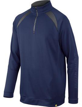 De Marini Men's Heater Fleece Baseball Half Zip by De Marini