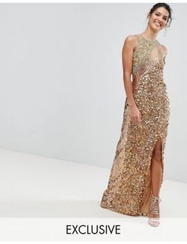 A Star Is Born Three Tone Maxi Dress With Fishtail by A Star Is Born